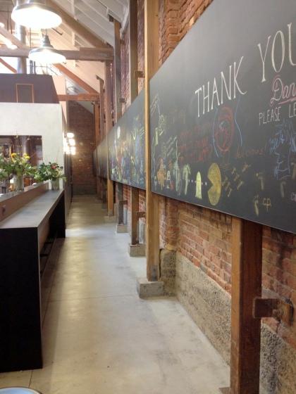 Dandelion chalk wall