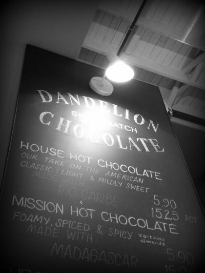 Dandelion menu