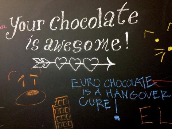 Dandelion chalk message
